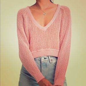 Free People - High Low V Sweater - XS